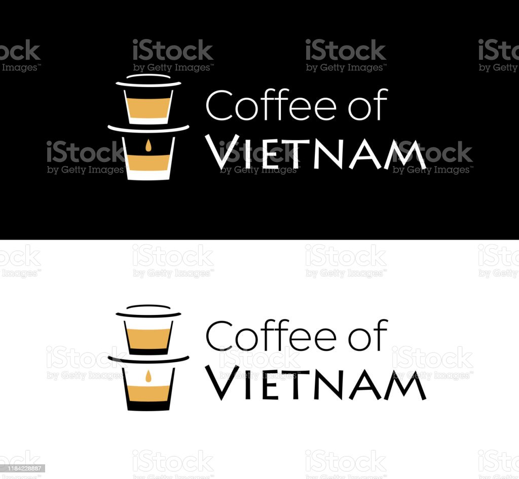 Coffee Of Vietnam Logo With Vietnamese Coffee Filter On The Glass Stock Illustration Download Image Now Istock