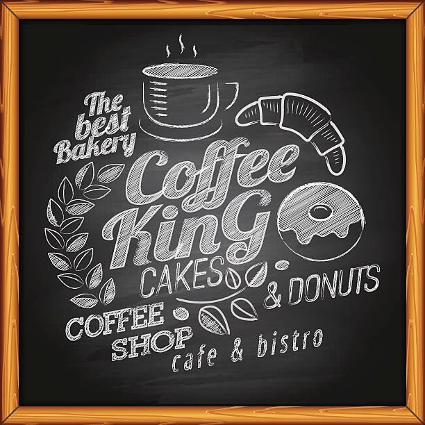 coffee on blackboard - フランス料理点のイラスト素材/クリップアート素材/マンガ素材/アイコン素材
