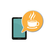 coffee online. eps 10 vector file