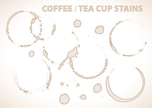 Coffee or tea cup stains