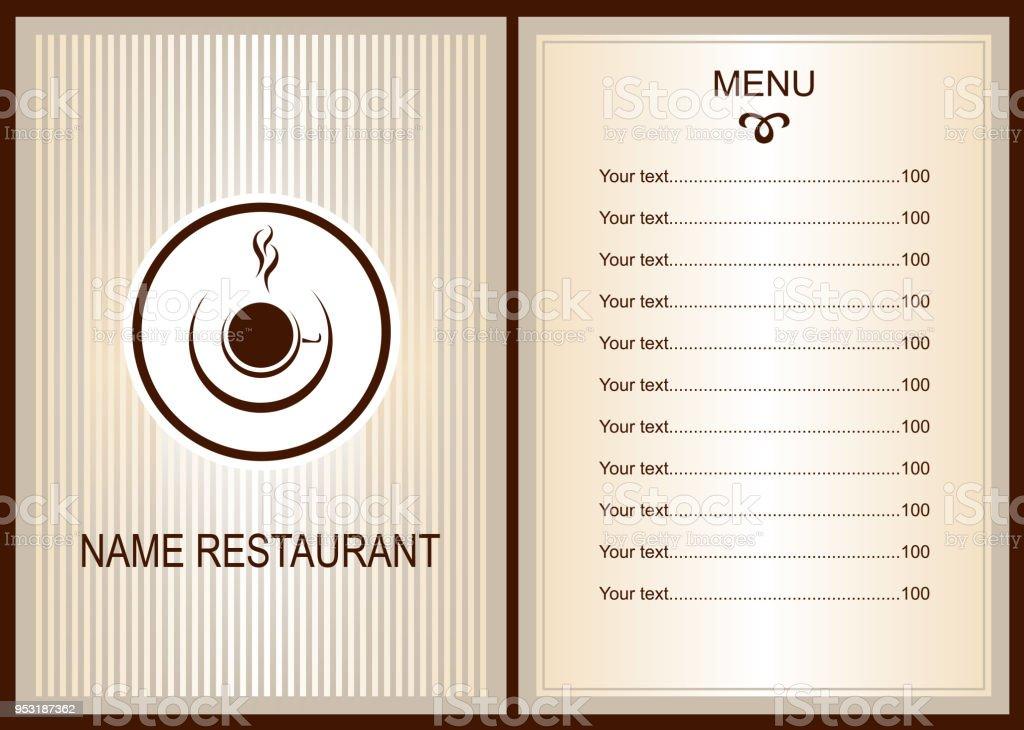 Kaffee Oder Tee Menü Menü Des Cafe Broschüre Vorlage Für Restaurant ...