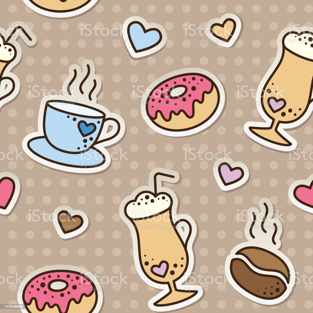 coffee pattern royalty-free coffee pattern stock vector art & more images of blue