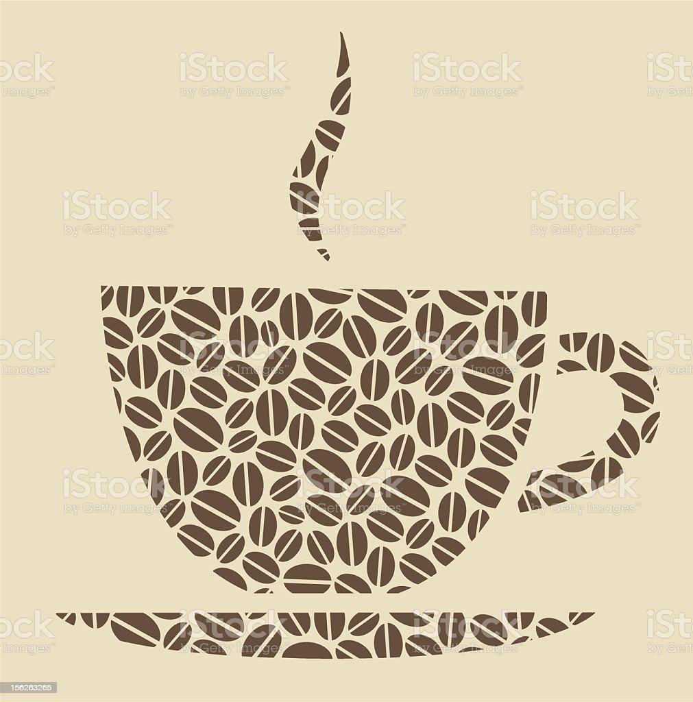 Coffee pattern royalty-free stock vector art