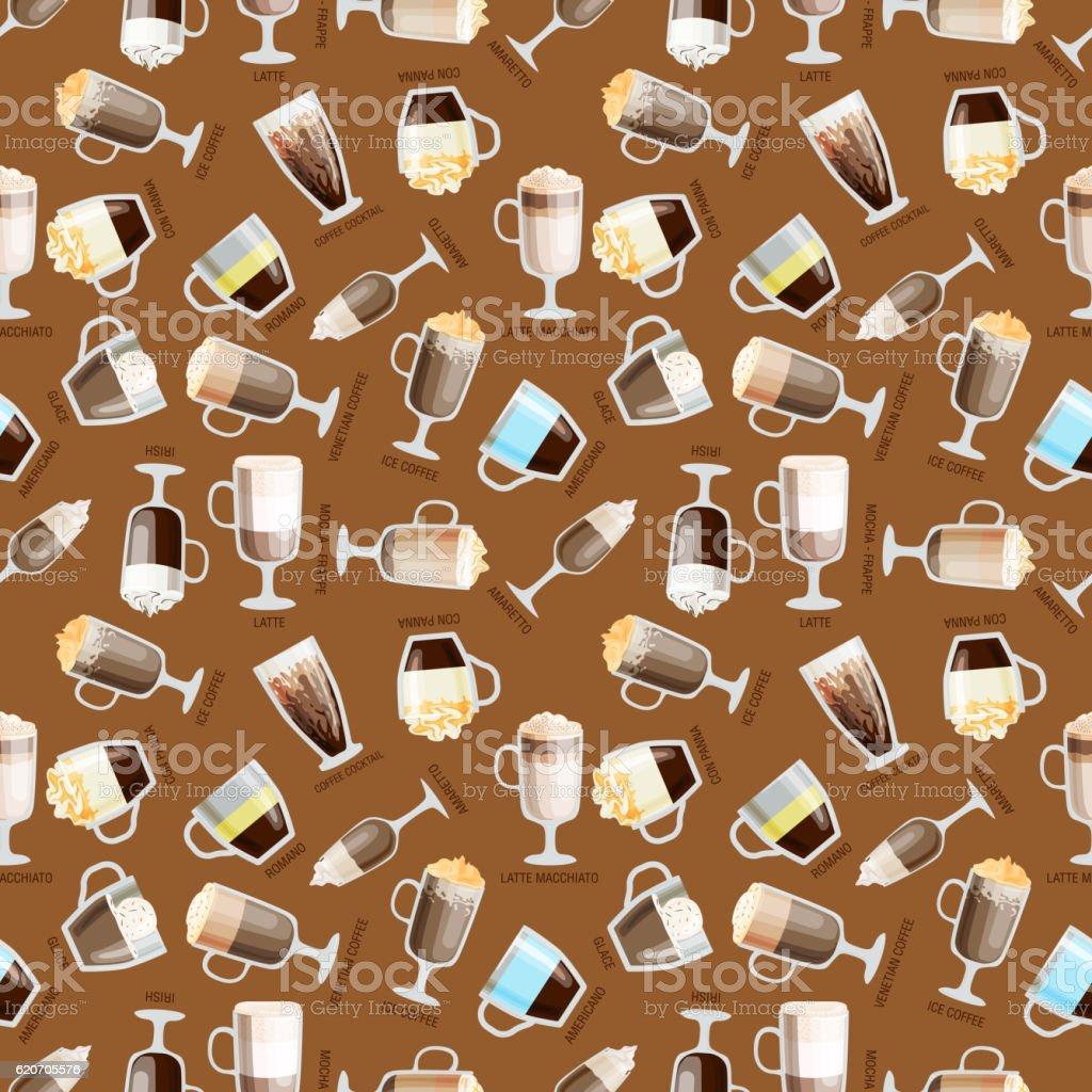 Coffee pattern vector illustration vector art illustration