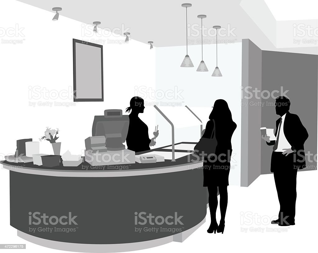 Coffee Place Vector Silhouette royalty-free coffee place vector silhouette stock vector art & more images of adult