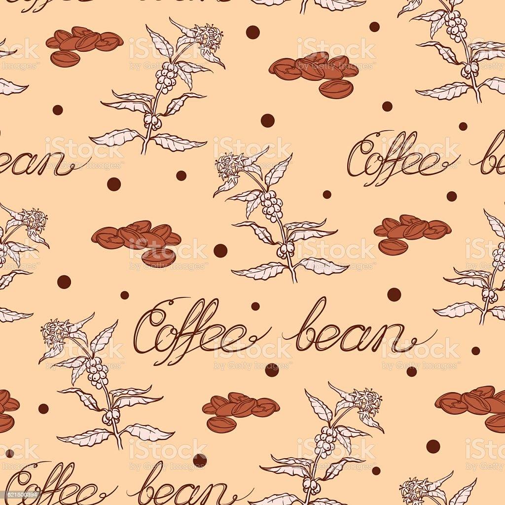 Coffee plant and beans pattern coffee plant and beans pattern - immagini vettoriali stock e altre immagini di albero royalty-free