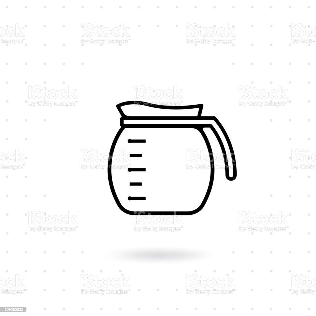Icono café bote - ilustración de arte vectorial
