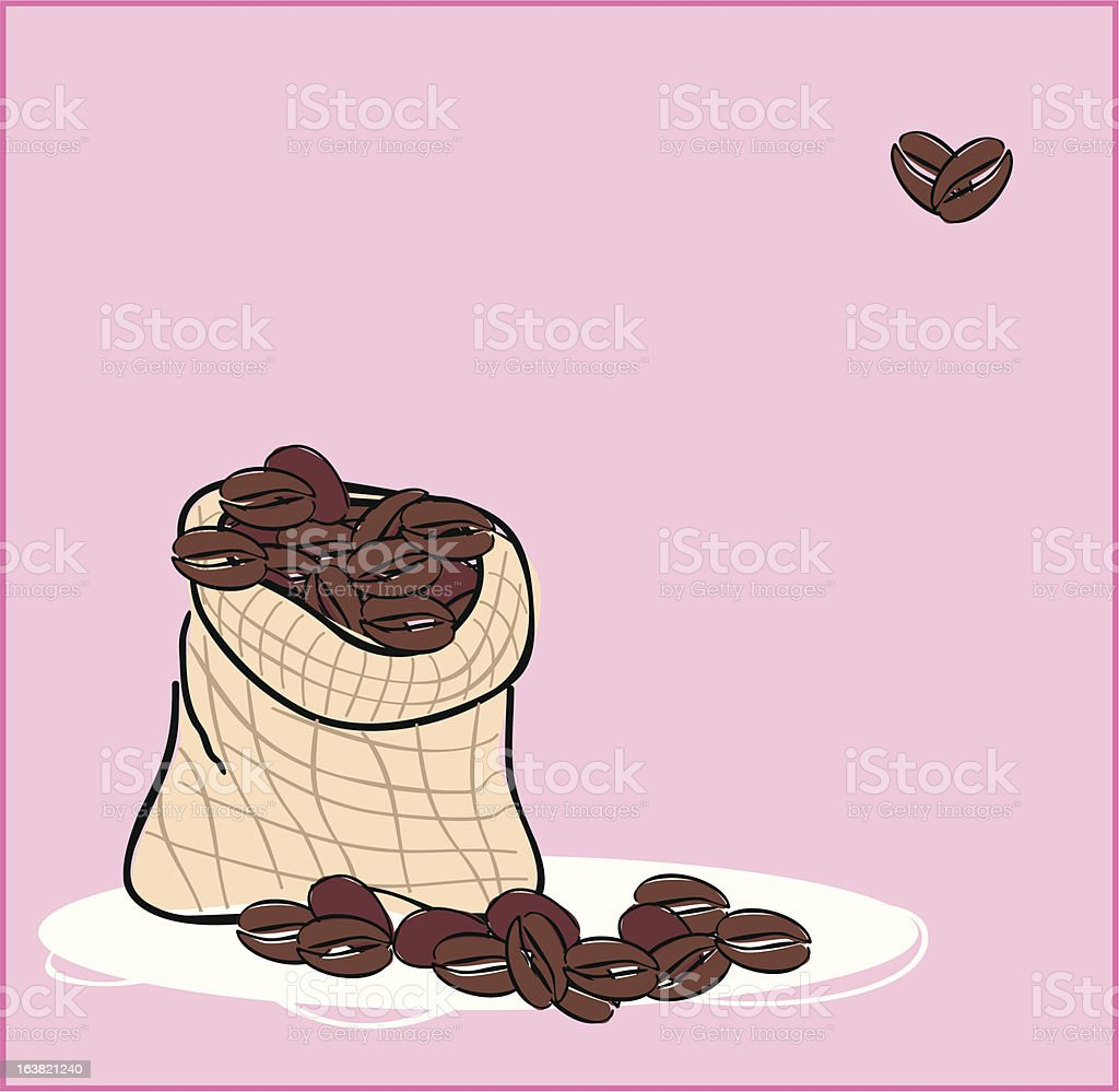 coffee sack royalty-free stock vector art