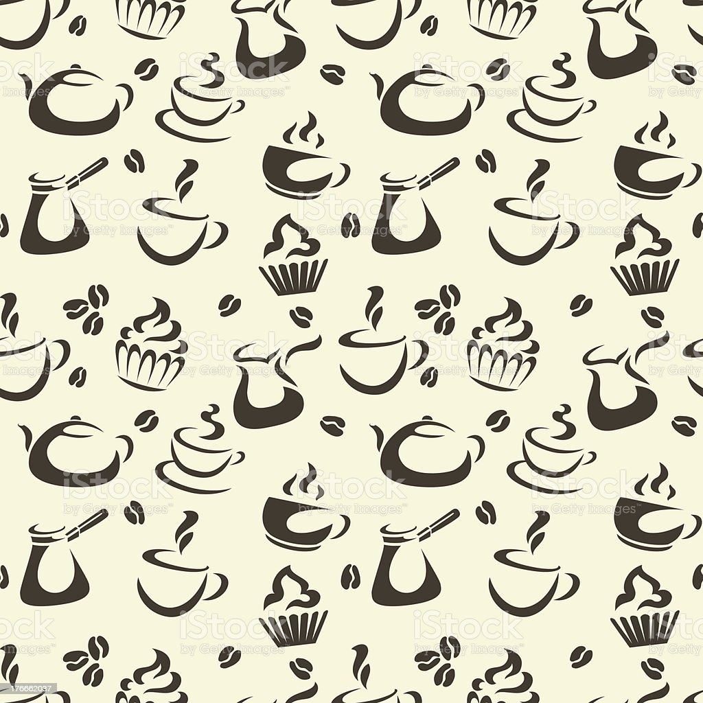 Coffee Seamless Pattern royalty-free coffee seamless pattern stock vector art & more images of backgrounds