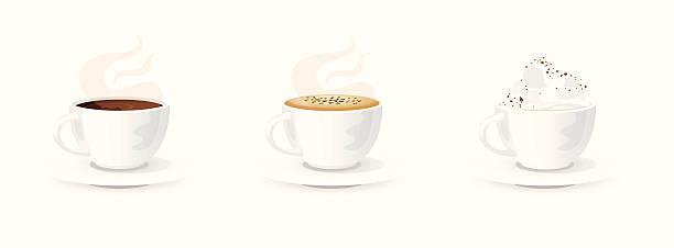 kawa wybór - cappuccino stock illustrations