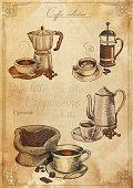 Vector illustration of vintage coffee