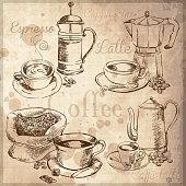 istock Coffee set 472294689