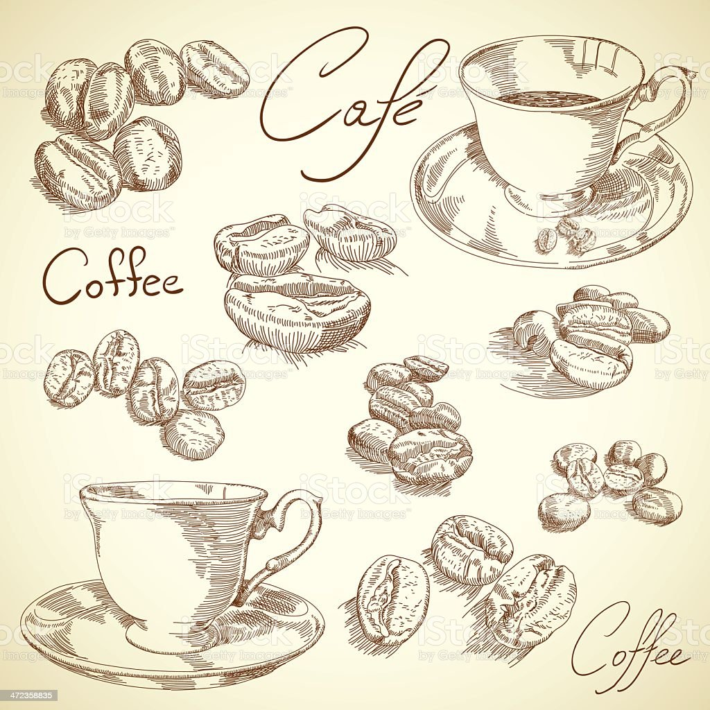 Coffee set royalty-free coffee set stock vector art & more images of backgrounds