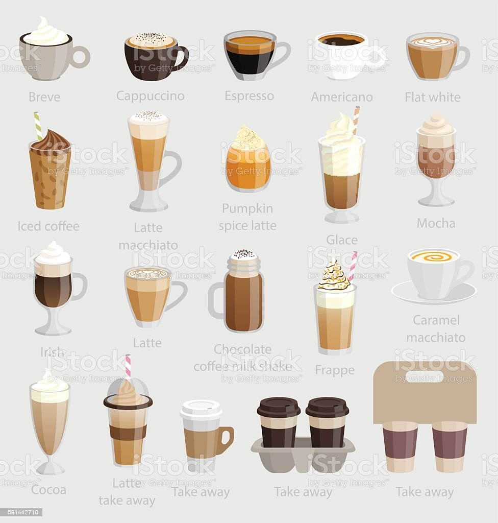 Coffee set. vector art illustration