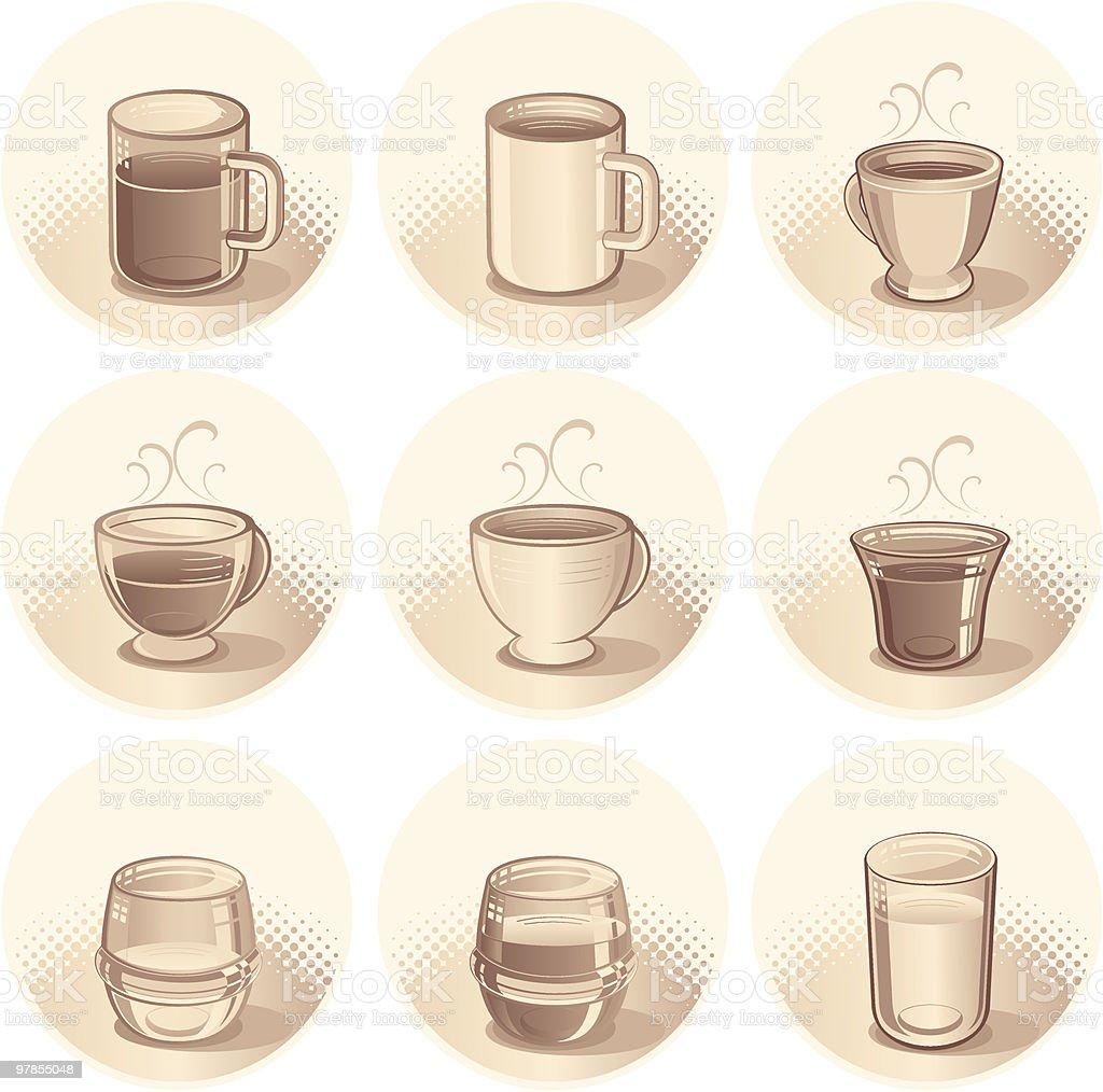 coffee set royalty-free stock vector art