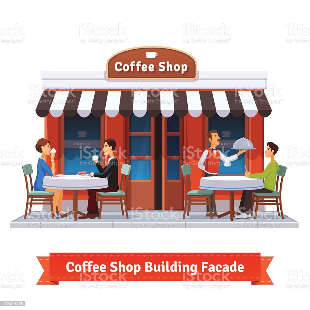Royalty Free Coffee Shop Exterior Clip Art Vector Images Rh Istockphoto Com Chic Cafe