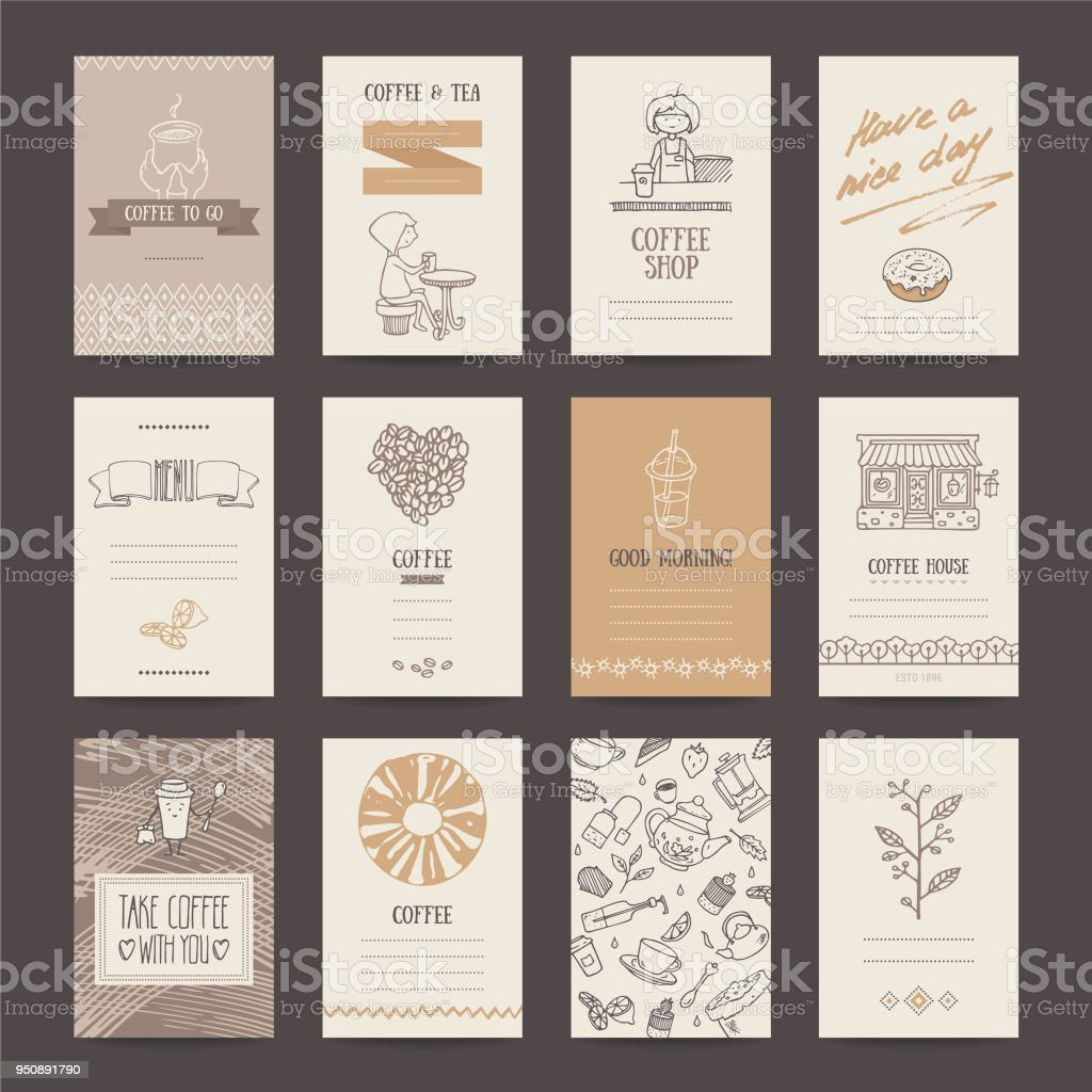 Coffee shop business card flyer menu template stock vector art coffee shop business card flyer menu template royalty free coffee shop business card wajeb Choice Image