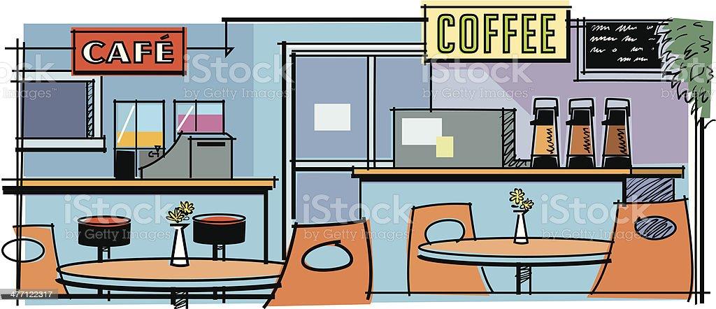 Coffee Shop C royalty-free stock vector art