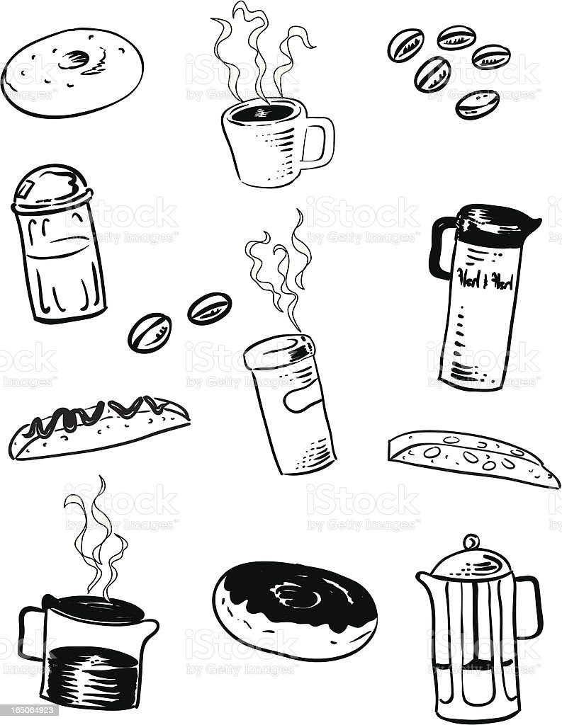 Coffee Shop Clip Art royalty-free stock vector art