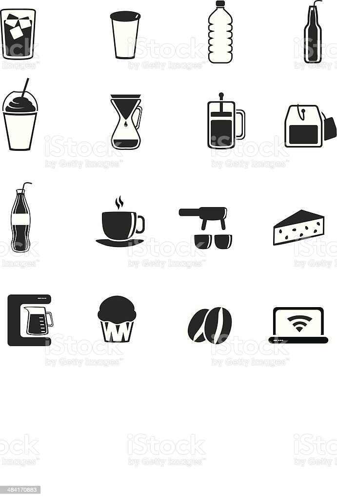 Coffee Shop İcons royalty-free coffee shop İcons stock vector art & more images of american culture