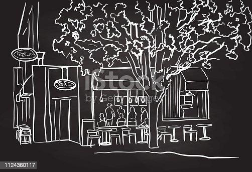 Neighbourhood coffeeshop on a street corner