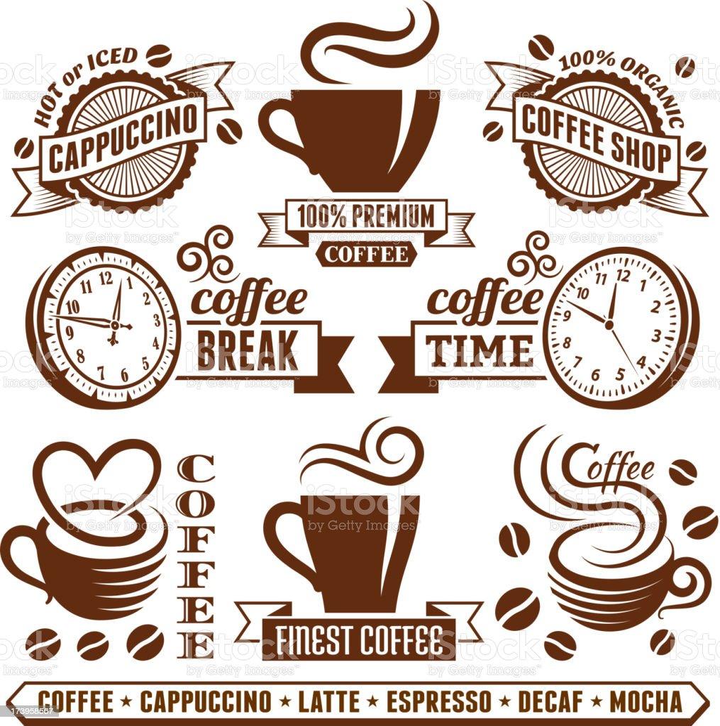 Coffee shop Elegant royalty free vector royalty-free vector arts Collection vector art illustration