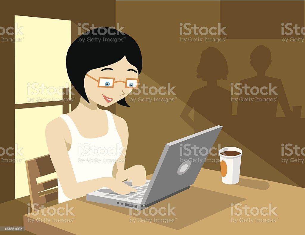 Coffee Shop Girl royalty-free stock vector art
