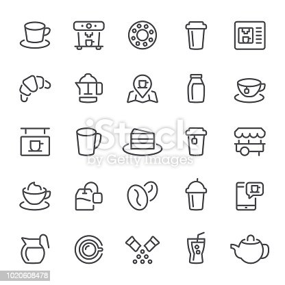 Coffee, icon, icon set, tea, teabag, coffee maker, coffee bean