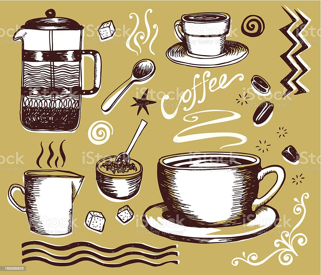 Coffee shop icons royalty-free coffee shop icons stock vector art & more images of bowl