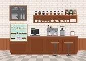 Coffee shop interior .