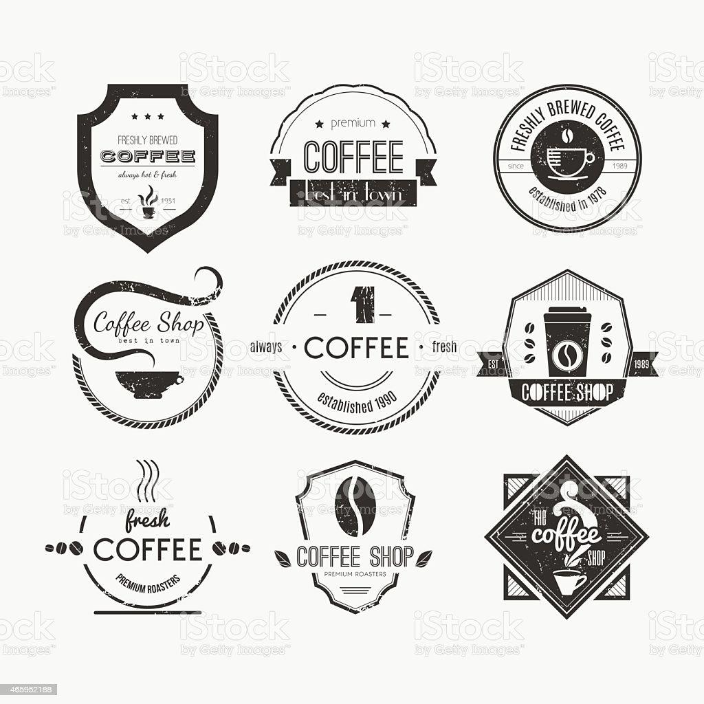 Coffee Shop Logo de la Collection - Illustration vectorielle