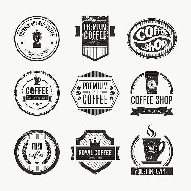 Coffee Shop Logo Collection vector art illustration