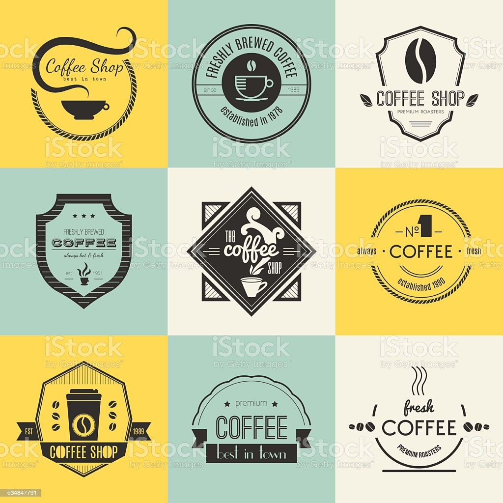 Coffee Shop Logo Collection vector art illustration