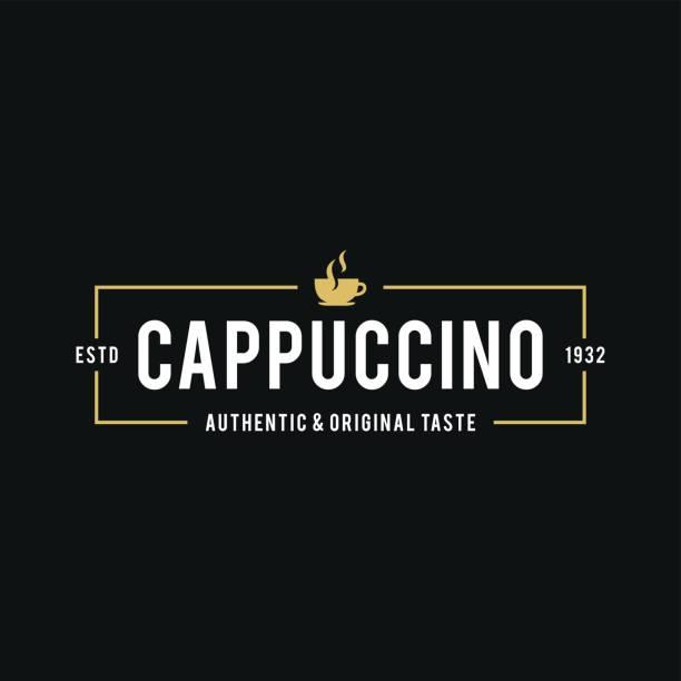 ilustrações de stock, clip art, desenhos animados e ícones de coffee shop logo, cup, beans in retro styled. vector illustration - coffe shop