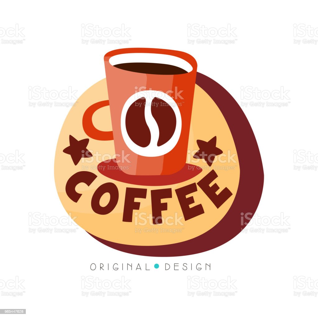 Coffee shop logo design template, cafeteria or coffeehouse badge vector Illustration on a white background royalty-free coffee shop logo design template cafeteria or coffeehouse badge vector illustration on a white background stock vector art & more images of archival