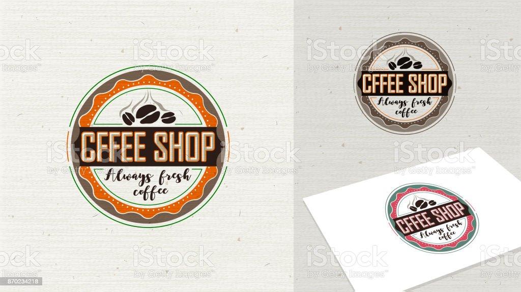 Coffeeshoplogovektorillustration Kaffeesymbol Symbol Zeichen Und ...