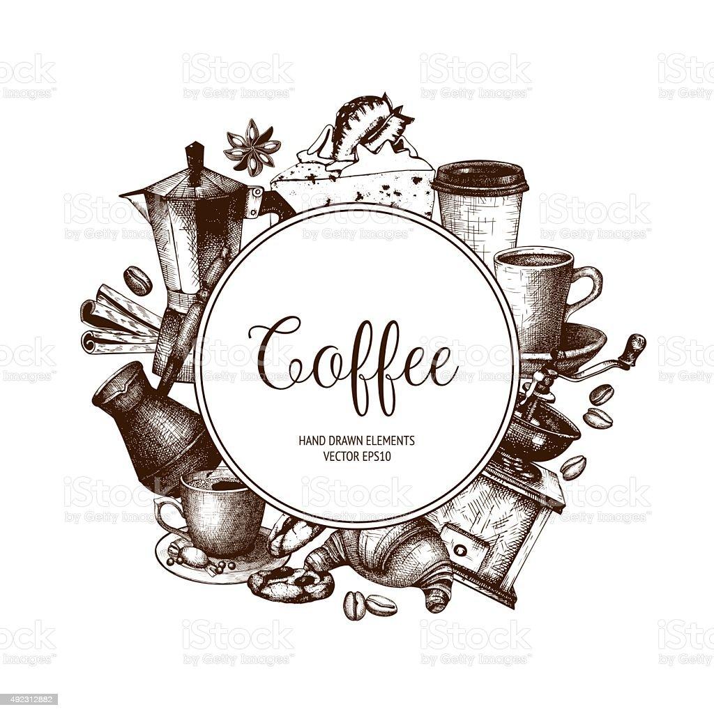 Coffee Shop Oder Cafévorlage Stock Vektor Art und mehr Bilder von ...