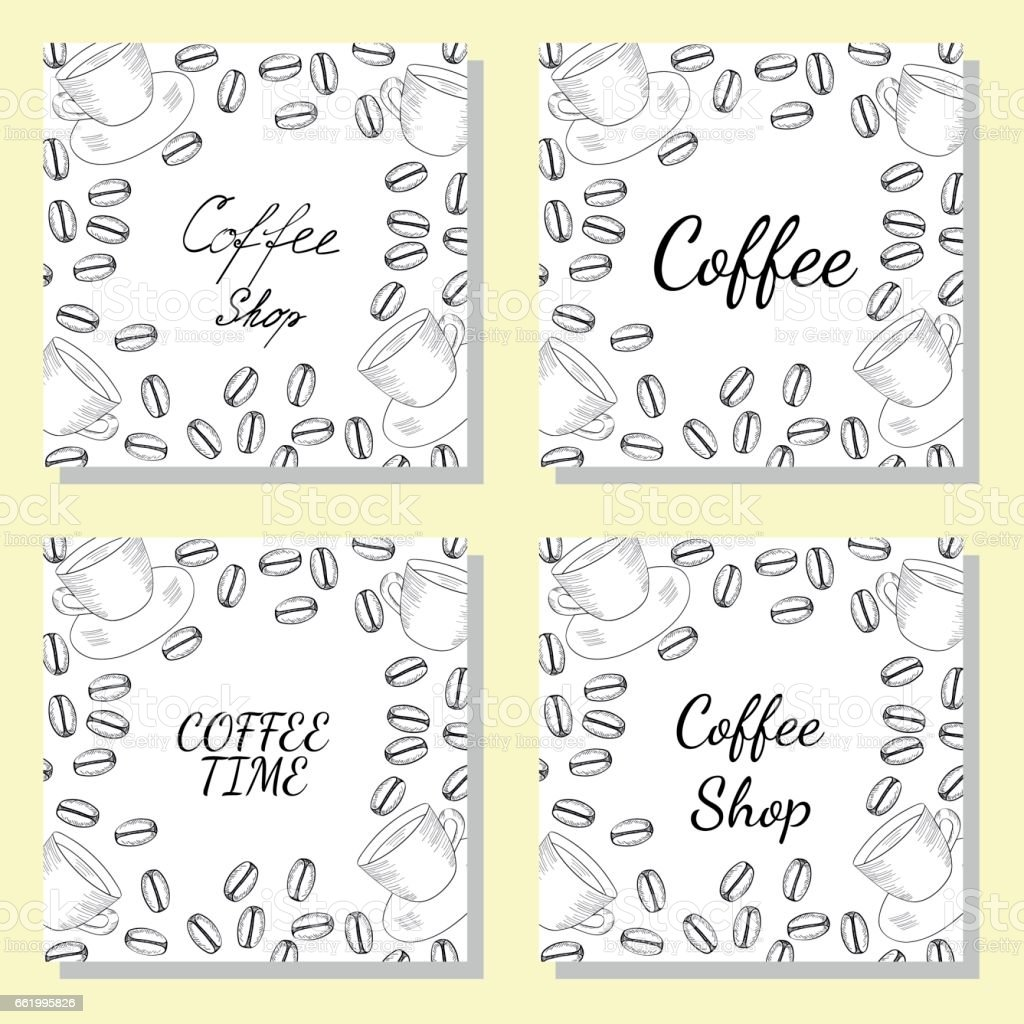 coffee shop square banner set 2-1 royalty-free coffee shop square banner set 21 stock vector art & more images of agriculture