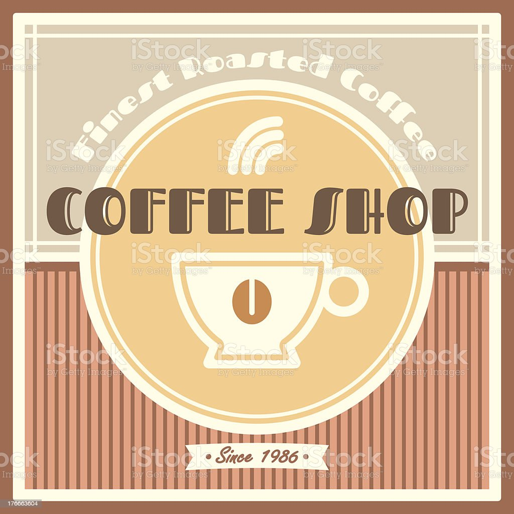 Coffee shop template royalty-free coffee shop template stock vector art & more images of badge