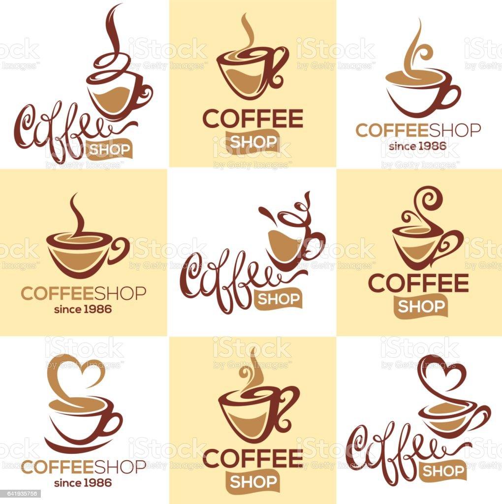 coffee shop, vector collection vector art illustration