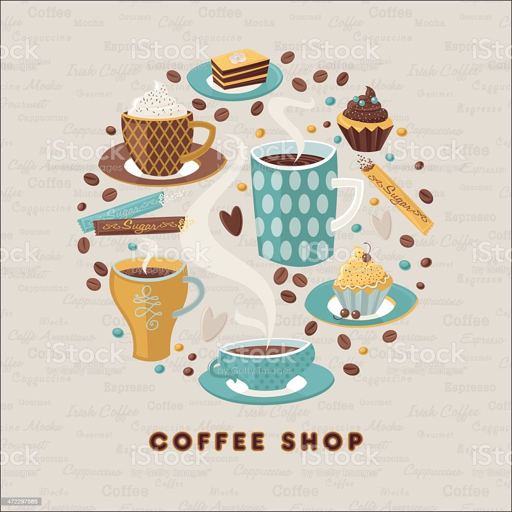 Coffee Shop royalty-free stock vector art