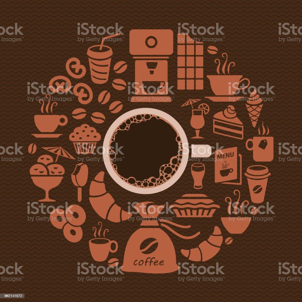Coffee Shop vector art illustration