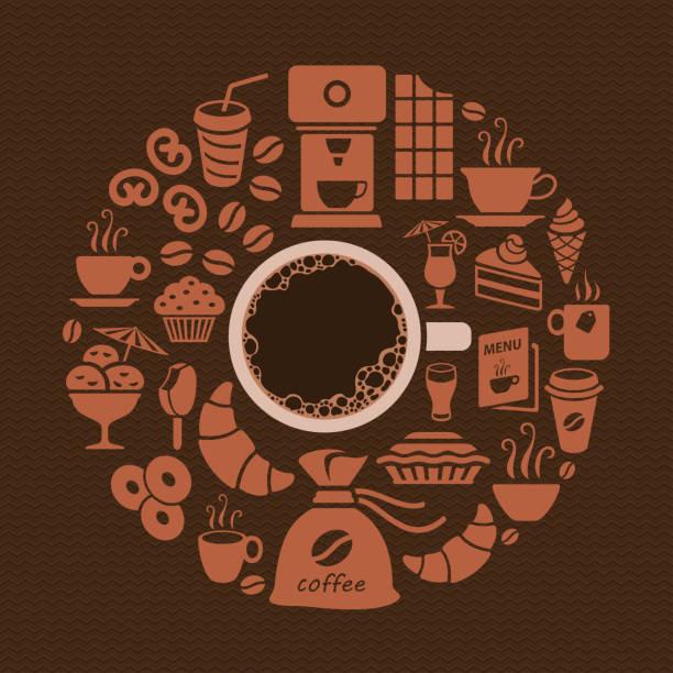 Coffee Shop Coffee shop background coffee break stock illustrations