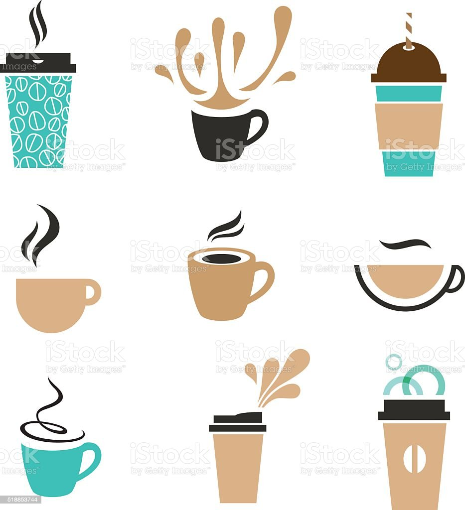 coffee signs vector art illustration