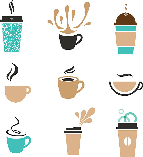 coffee signs - junk food stock illustrations, clip art, cartoons, & icons