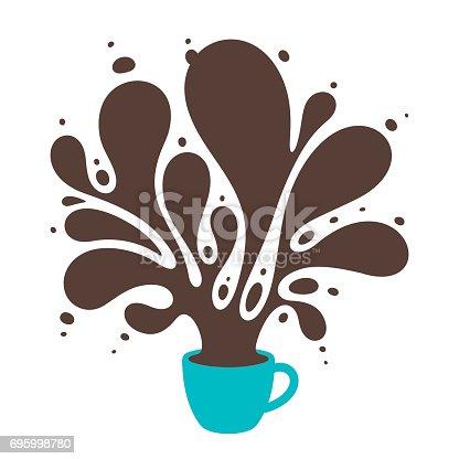 Big splash of coffee