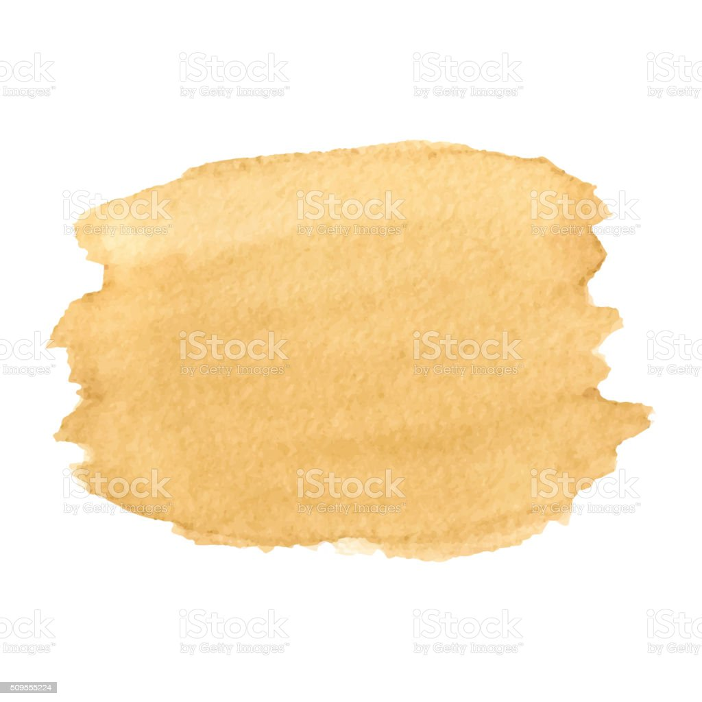 Coffee Stain  Isolated On White Background.