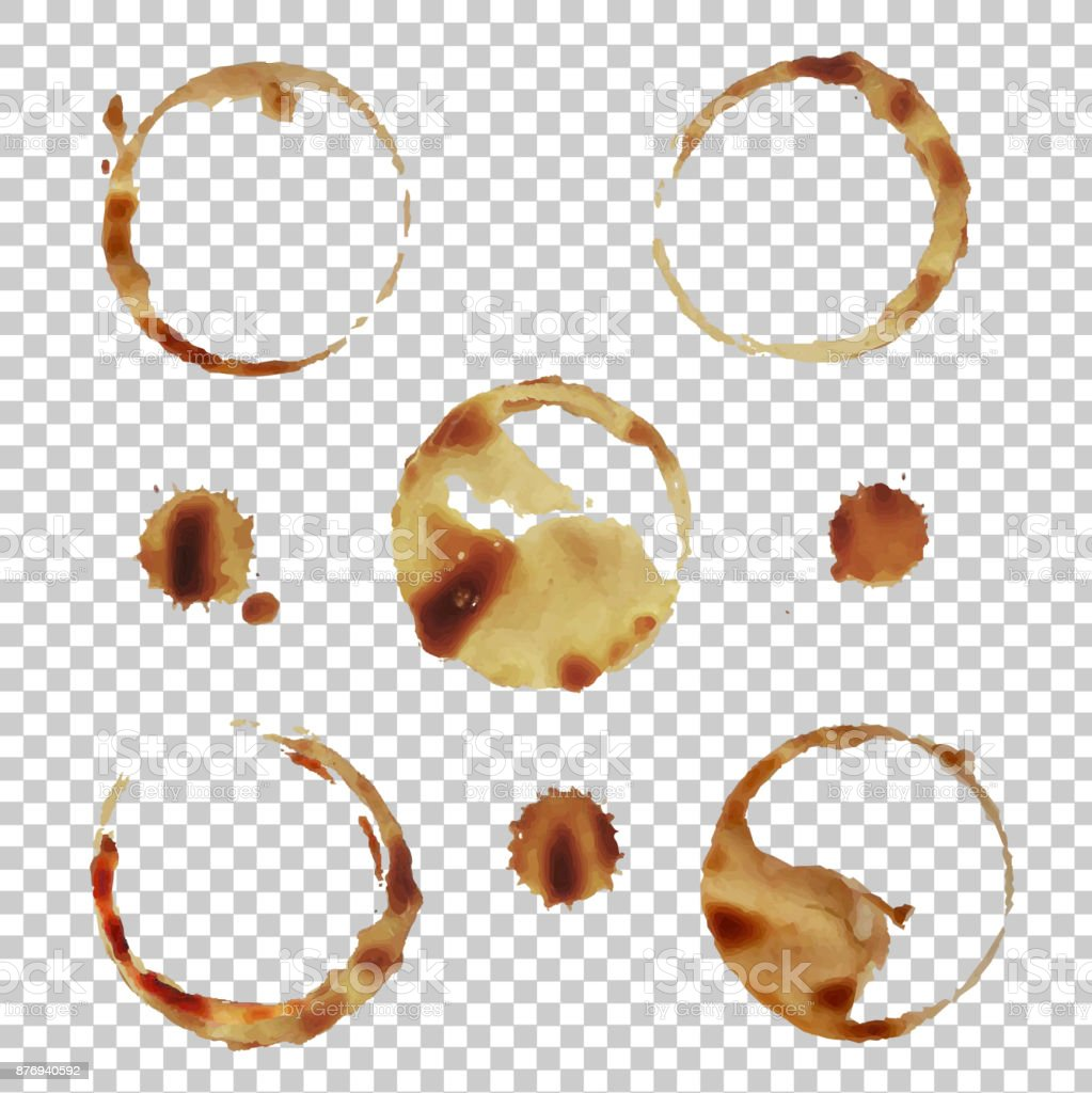 Coffee Stain Set Isolated vector art illustration