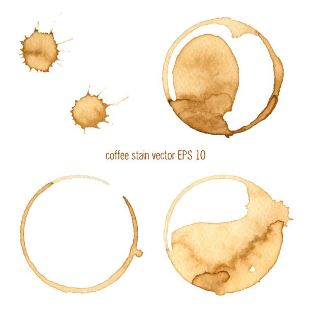 coffee stain - coffee stock illustrations, clip art, cartoons, & icons