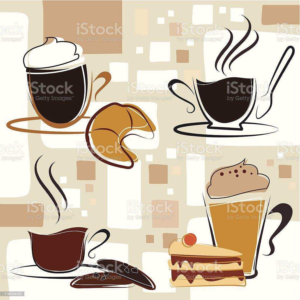 Coffee & Sweet royalty-free stock vector art